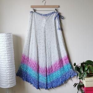 NWT Silk Boho Maxi Skirt / Midi Dress